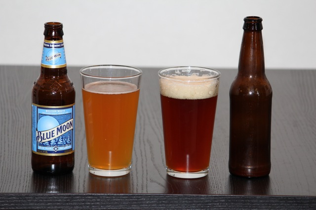 Comparison of Blue Moon to my homebrew.